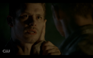 A nice moment between Klaus and his father.
