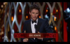 Eddie Redmayne won the Oscar for Best Actor in a leading role.