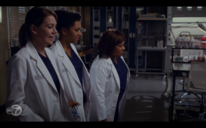 Meredith, Bailey and Maggie wait for their tumor to print.