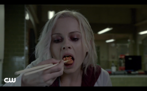 Liv has to eat brains to not go full zombie.