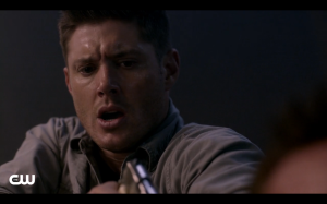 This is Dean's reaction to the worm coming out of Cole.