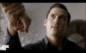 Milo Ventimiglia may be playing a sick villain, but he's still as sexy as ever.
