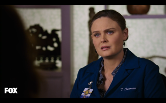 Brennan looked so sad when she realized her best friend was leaving her.